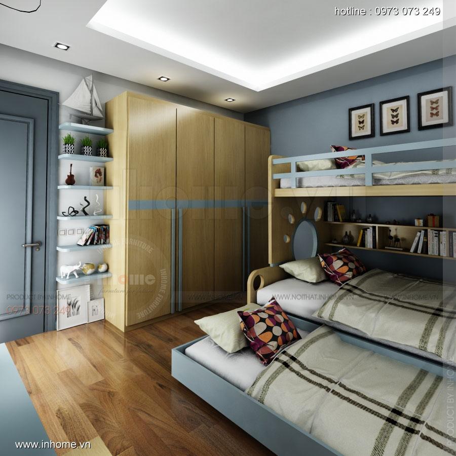 Thiết kế nội thất phòng ngủ trẻ em đẹp 05