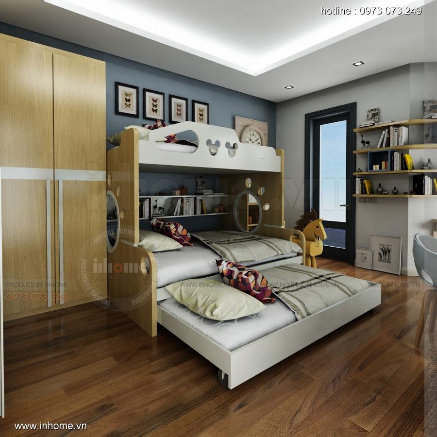 Thiết kế nội thất phòng ngủ trẻ em đẹp 06