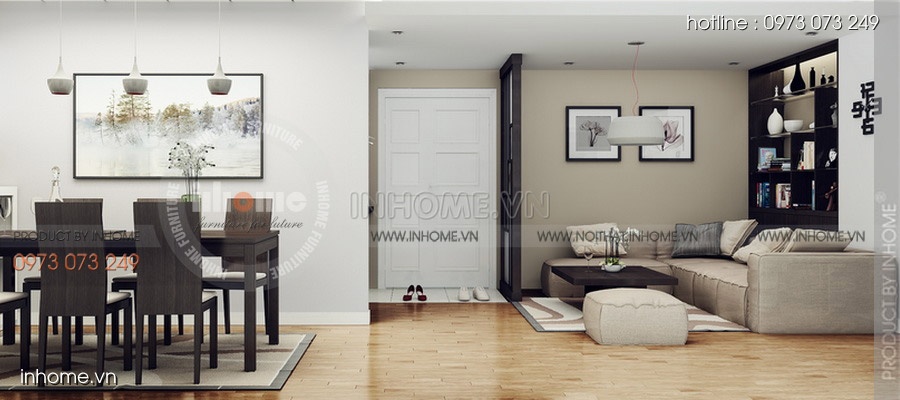Thiết kế nội thất chung cư CT3 Mỹ Đình 01