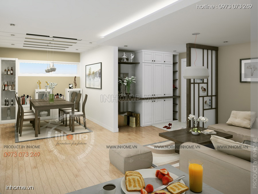 Thiết kế nội thất chung cư CT3 Mỹ Đình 08