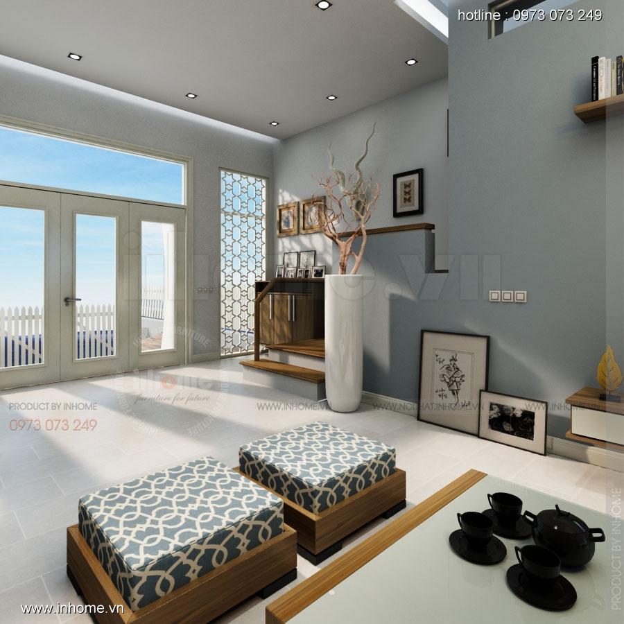 Thiết kế nội thất nhà phân lô, đô thị Xuân Phương Viglacera 01
