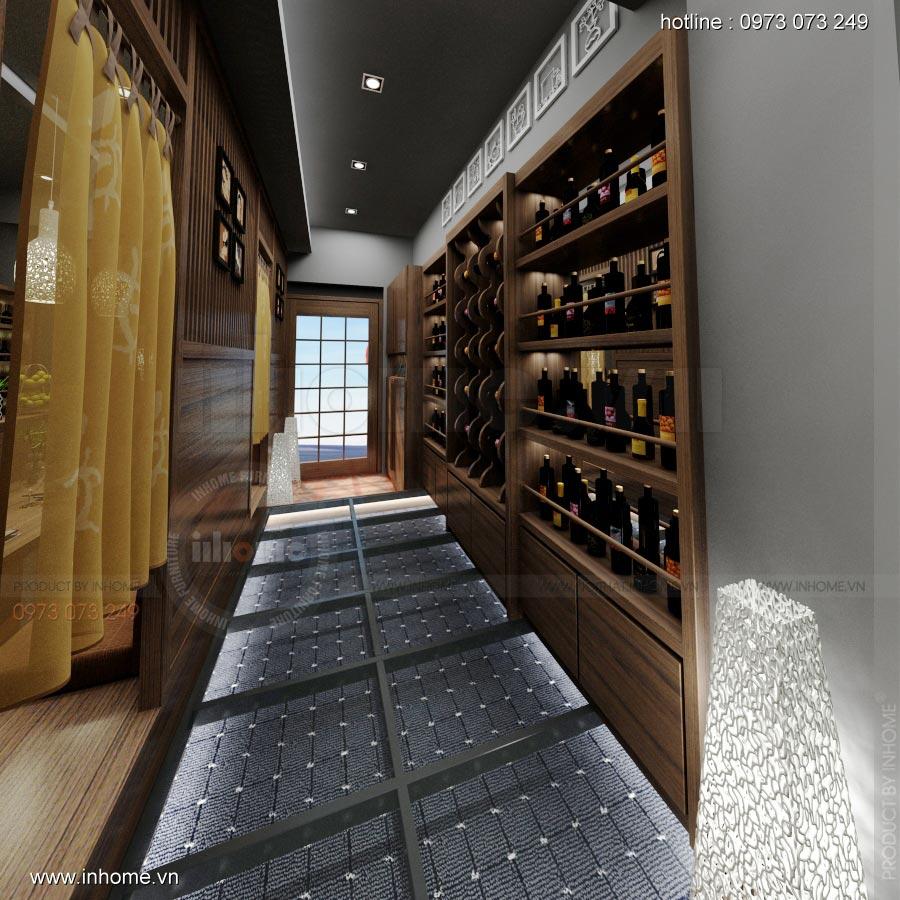Thiết kế nội thất nhà hàng Nhật 01