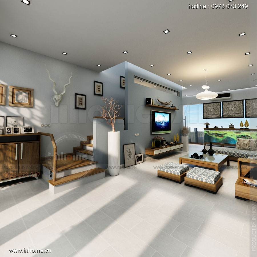 Thiết kế nội thất nhà phân lô, đô thị Xuân Phương Viglacera 02