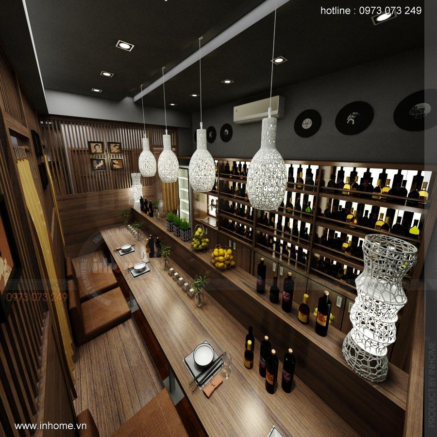 Thiết kế nội thất nhà hàng Nhật 02