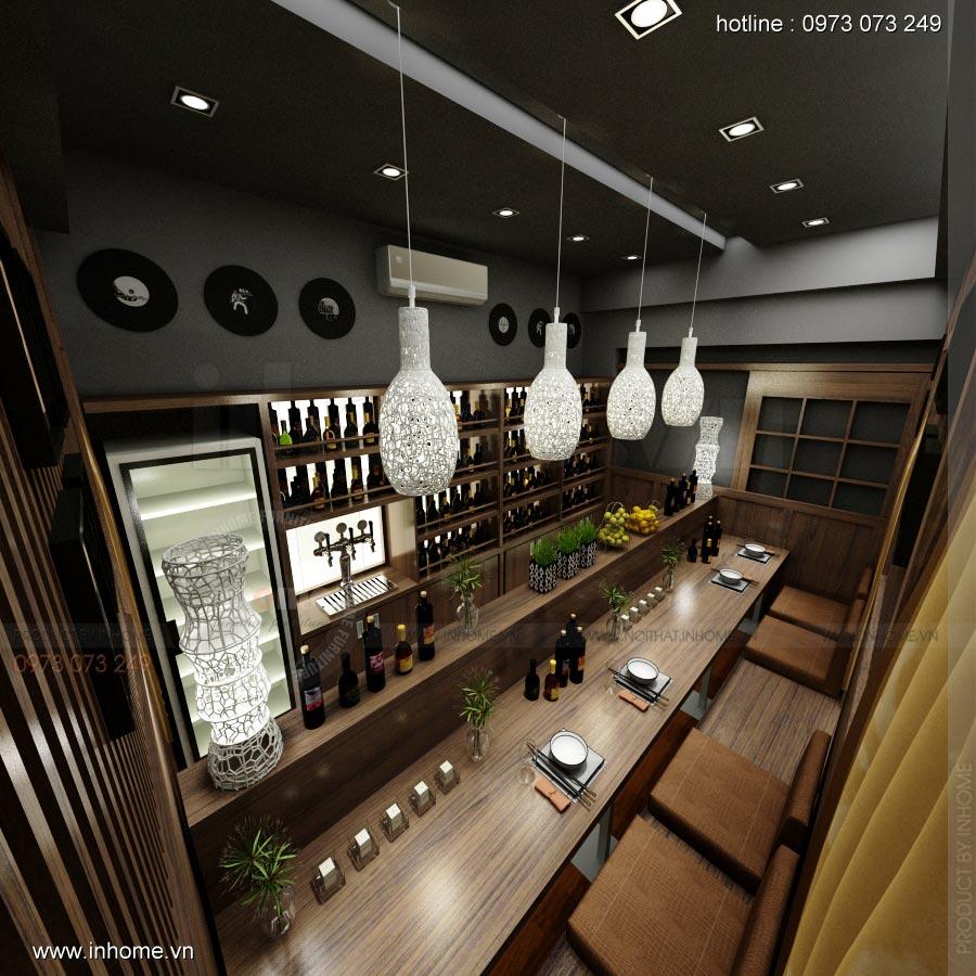 Thiết kế nội thất nhà hàng Nhật 03