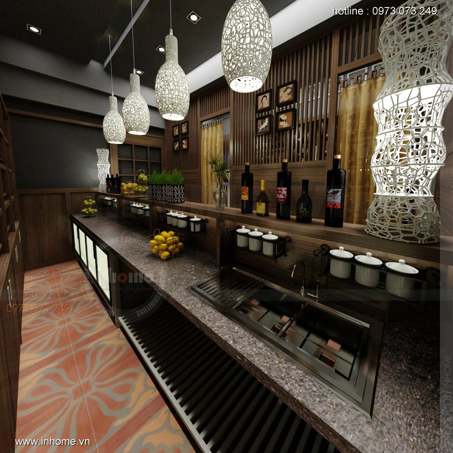 Thiết kế nội thất nhà hàng Nhật 04
