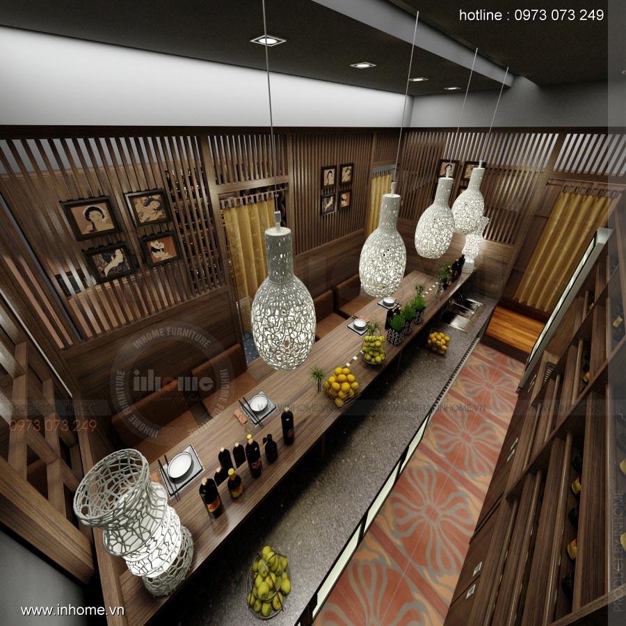 Thiết kế nội thất nhà hàng Nhật 05