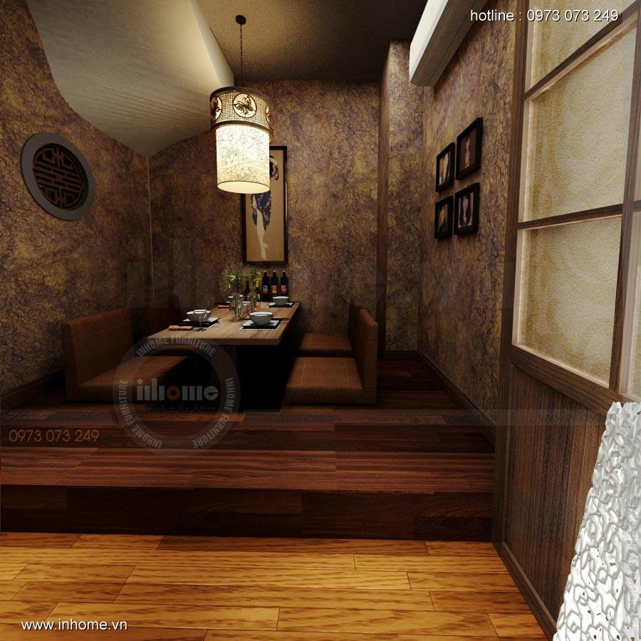 Thiết kế nội thất nhà hàng Nhật 06