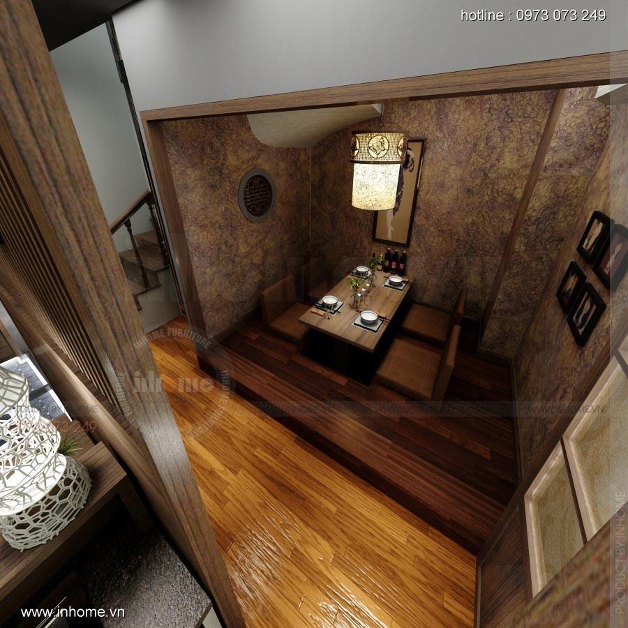Thiết kế nội thất nhà hàng Nhật 07