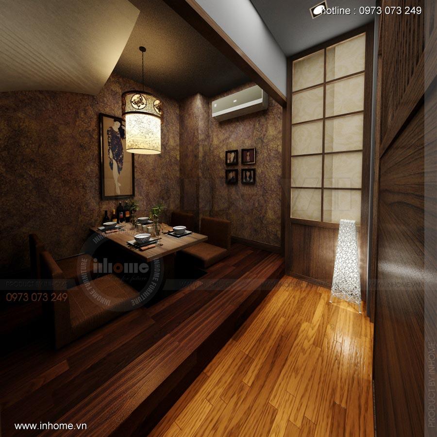Thiết kế nội thất nhà hàng Nhật 08