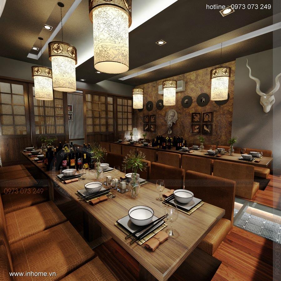 Thiết kế nội thất nhà hàng Nhật 11