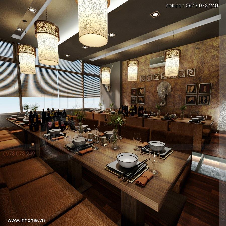 Thiết kế nội thất nhà hàng Nhật 12