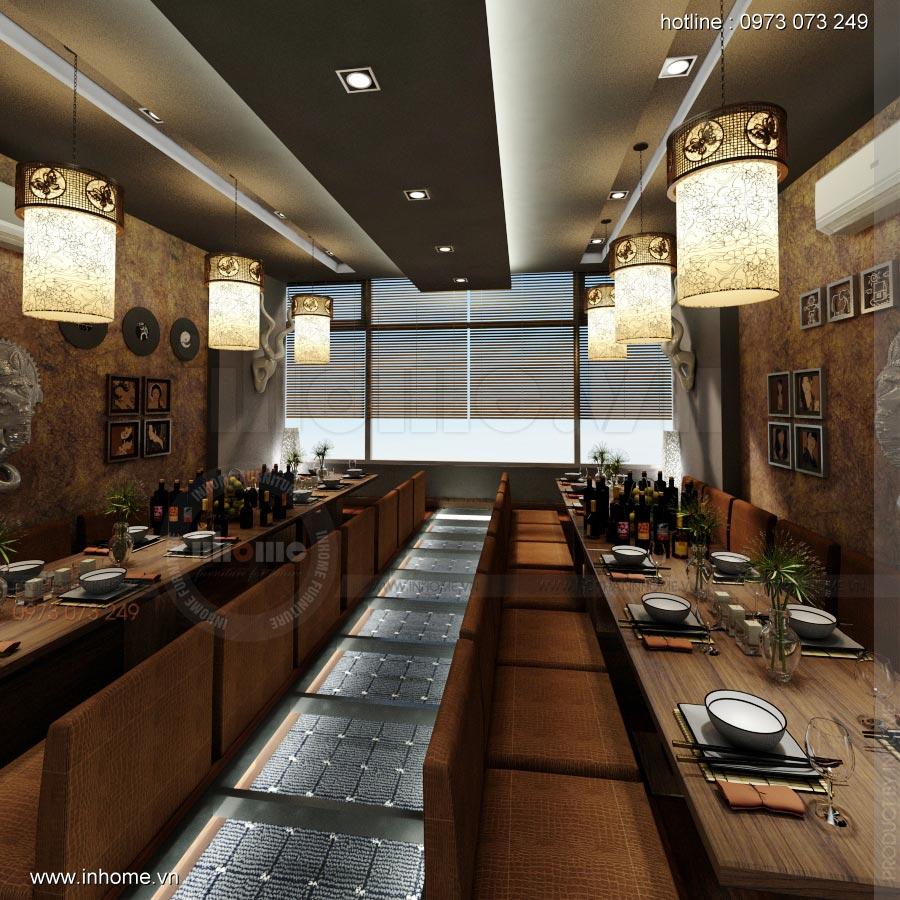 Thiết kế nội thất nhà hàng Nhật 13