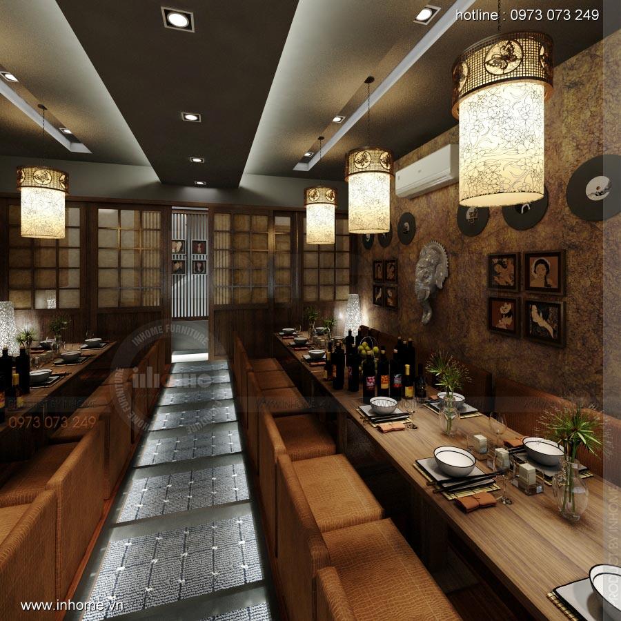 Thiết kế nội thất nhà hàng Nhật 14