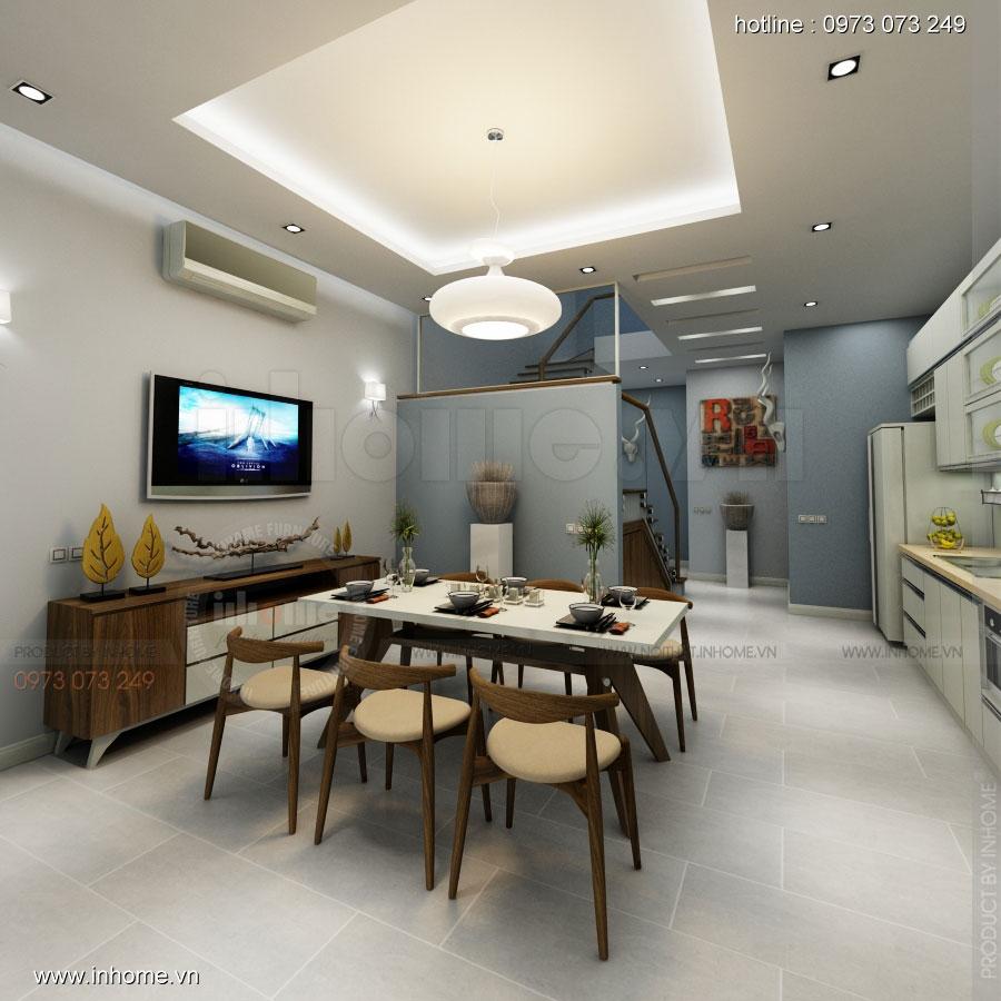 Thiết kế nội thất nhà phân lô, đô thị Xuân Phương Viglacera 05