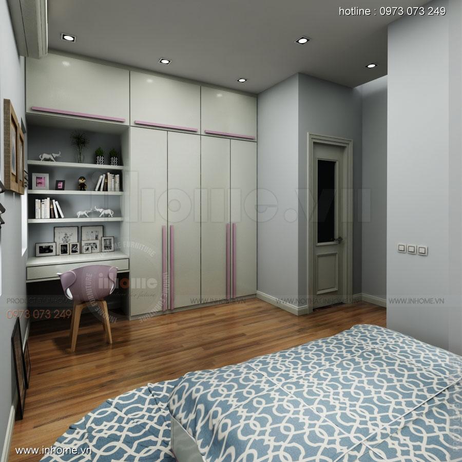 Thiết kế nội thất nhà phân lô, đô thị Xuân Phương Viglacera 07