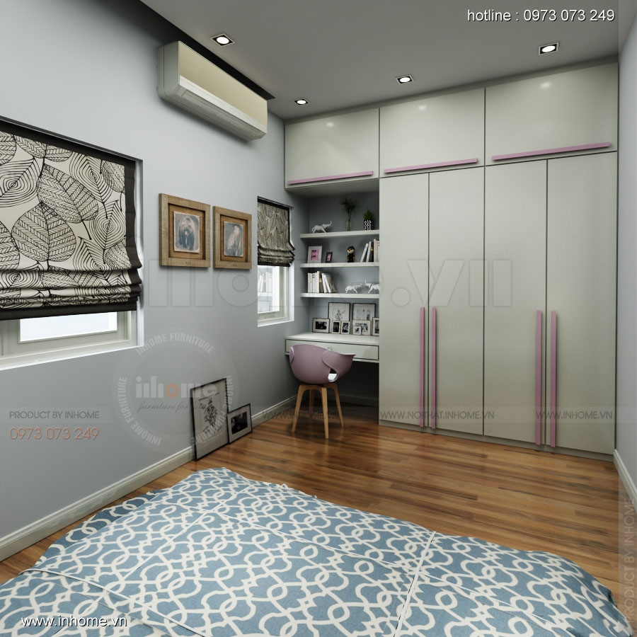 Thiết kế nội thất nhà phân lô, đô thị Xuân Phương Viglacera 09