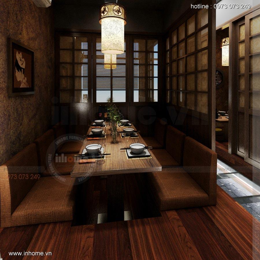 Thiết kế nội thất nhà hàng Nhật 18
