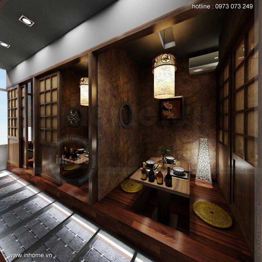 Thiết kế nội thất nhà hàng Nhật 19