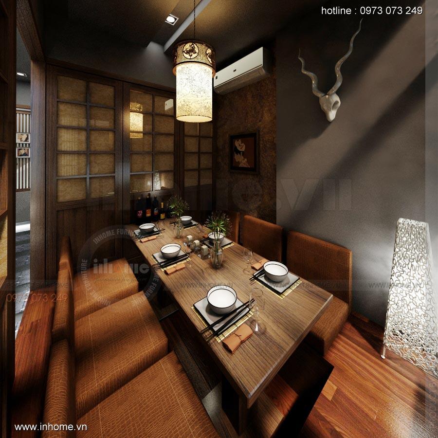 Thiết kế nội thất nhà hàng Nhật 20
