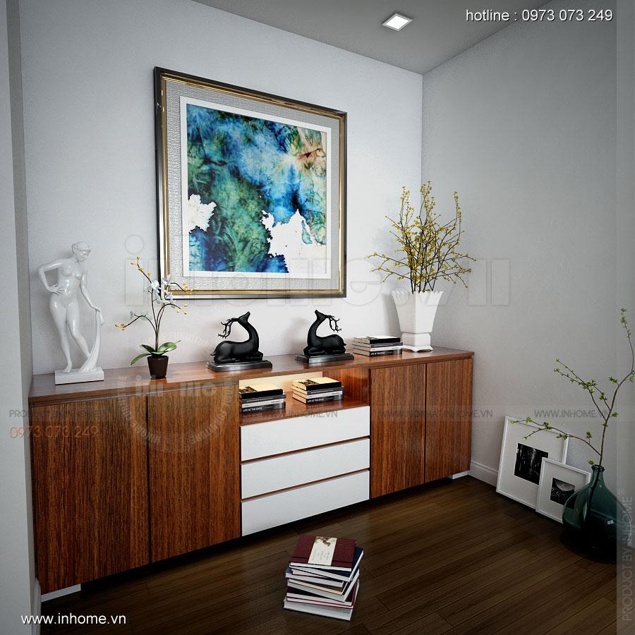 Thiết kế nội thất Biệt Thự đường Ngọc Trai: Tủ kệ trang trí