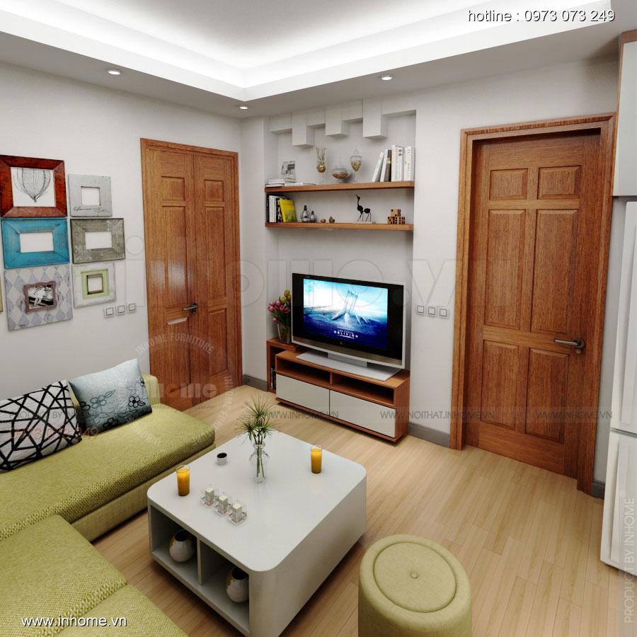 Thiết kế nội thất chung cư Xuân Đỉnh 02