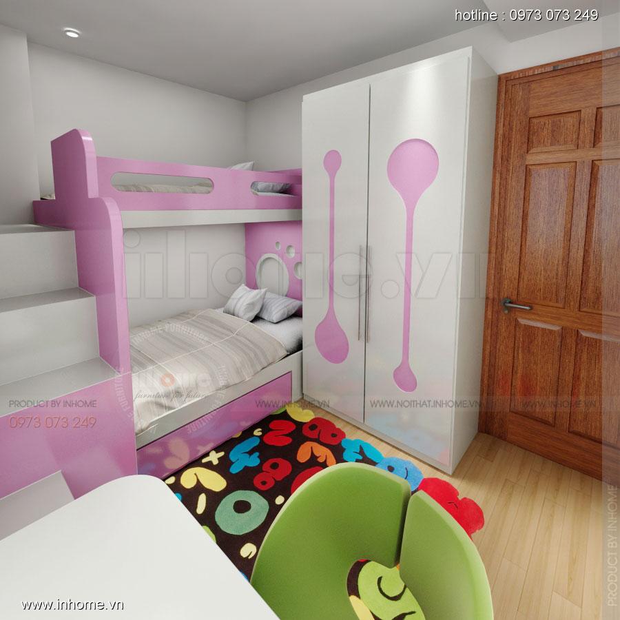 Thiết kế nội thất chung cư Xuân Đỉnh 07