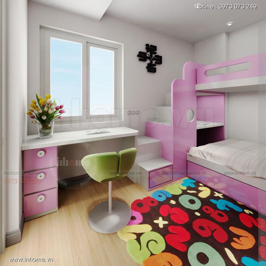 Thiết kế nội thất chung cư Xuân Đỉnh 08