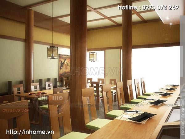 Thiết kế nhà hàng Nhật 08
