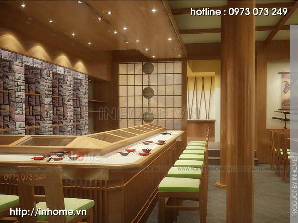 Thiết kế nhà hàng Nhật 04