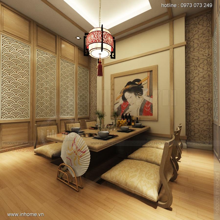 Thiết kế nhà hàng nhật Kaminuma