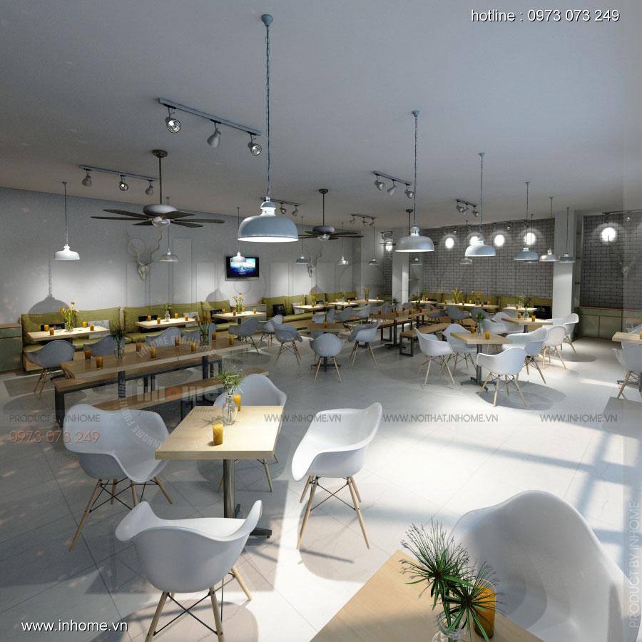 Thiết kế nội thất quán căng tin - The Green Box Bách Khoa