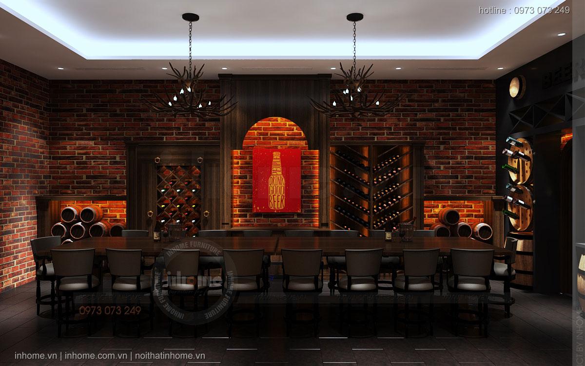 Thiết kế nội thất hầm bia