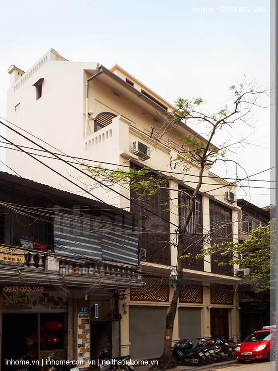 Thiết kế nhà phố đẹp theo phong cách nhà Việt xưa phố Hàng Chĩnh 03