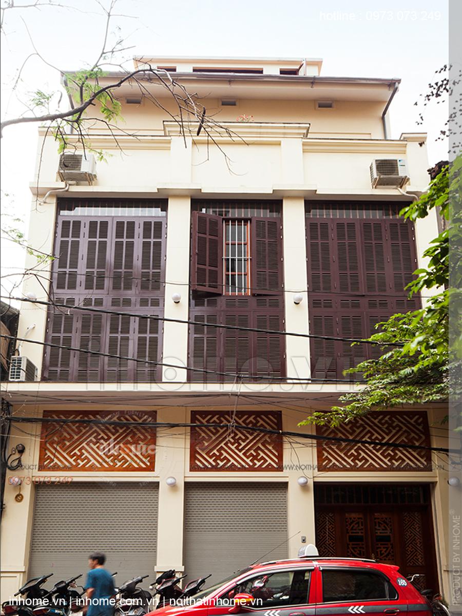 Thiết kế nhà phố đẹp theo phong cách nhà Việt xưa phố Hàng Chĩnh 04