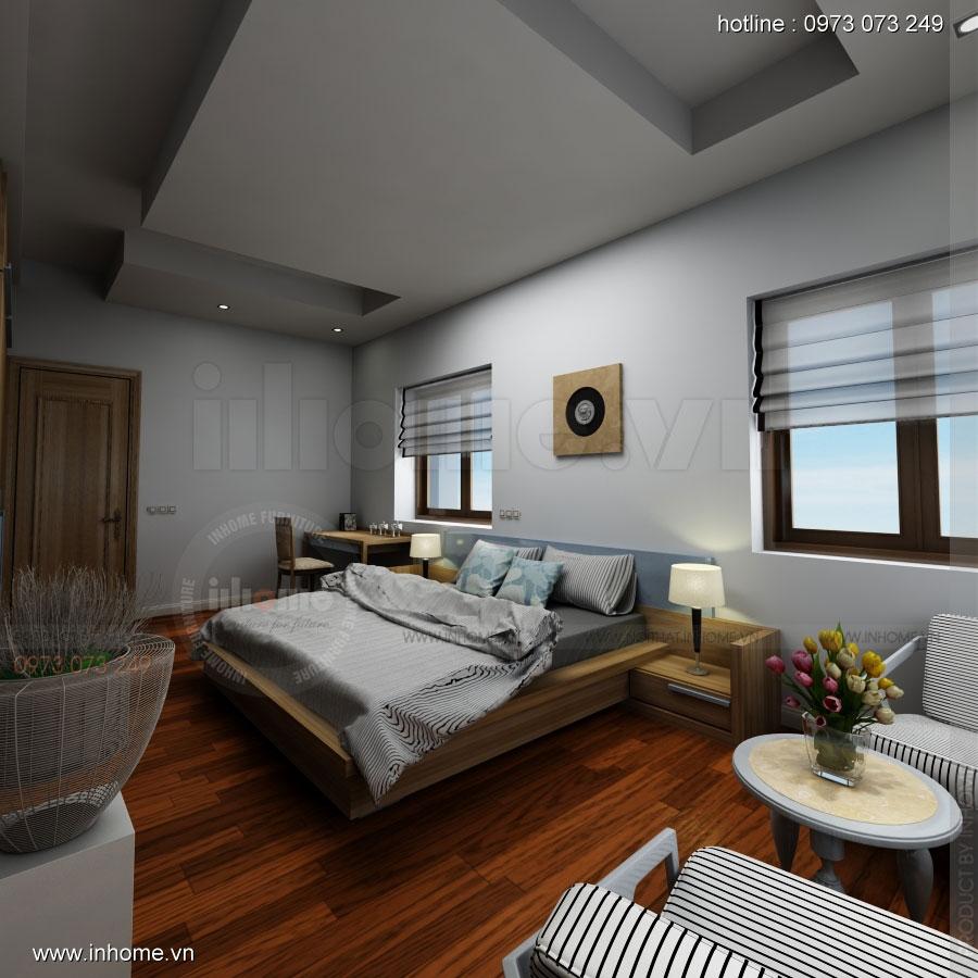 Thiết kế nội thất biệt thự Mê Linh, Hà Nội