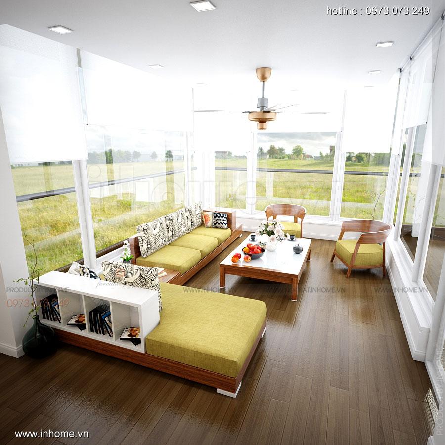 Thiết kế nội thất Biệt Thự đường Ngọc Trai: Phòng sinh hoạt chung