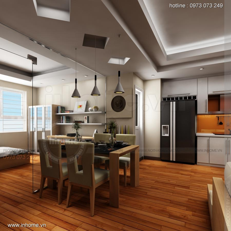 Thiết kế nội thất chung cư 17T1-Ct2 Vinaconex 3 02