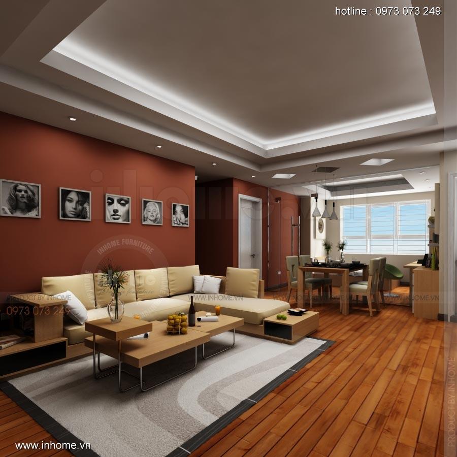 Thiết kế nội thất chung cư 17T1-Ct2 Vinaconex 3 03