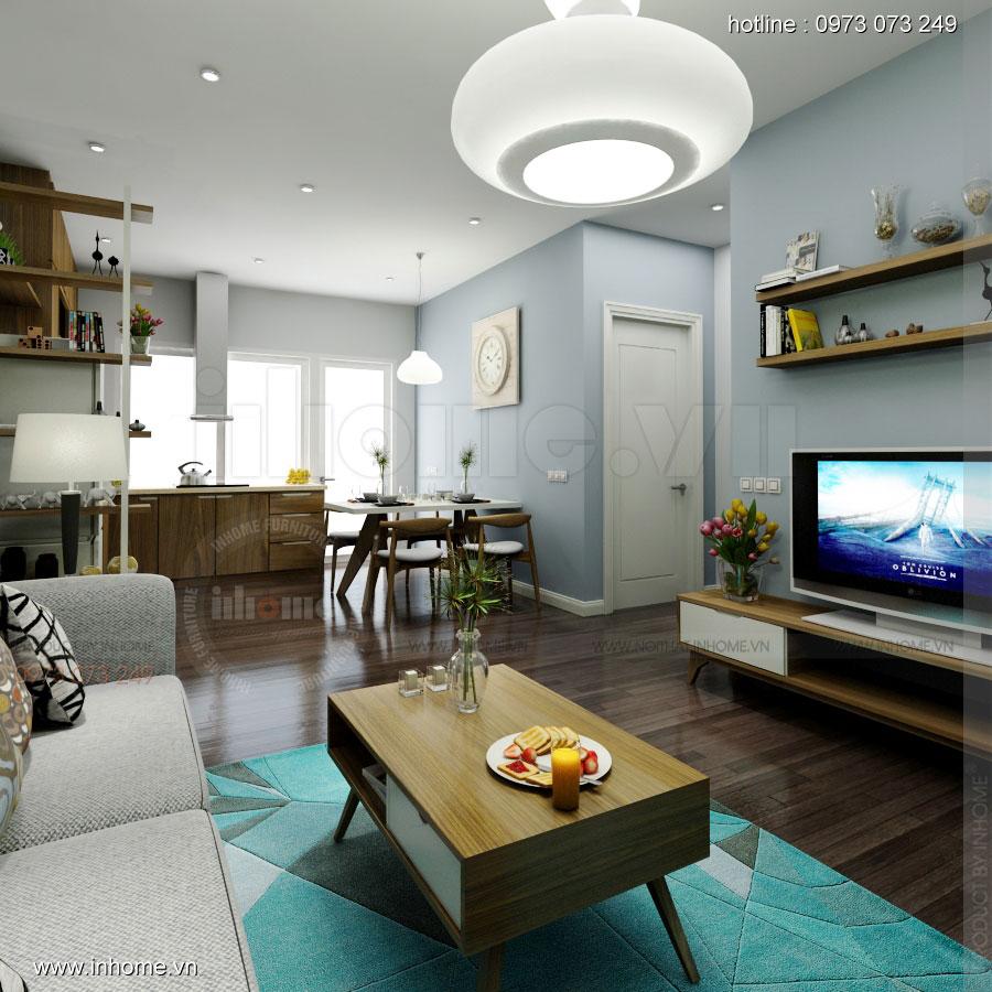 Thiết kế nội thất chung cư 64m2 cho 4 người ở 03