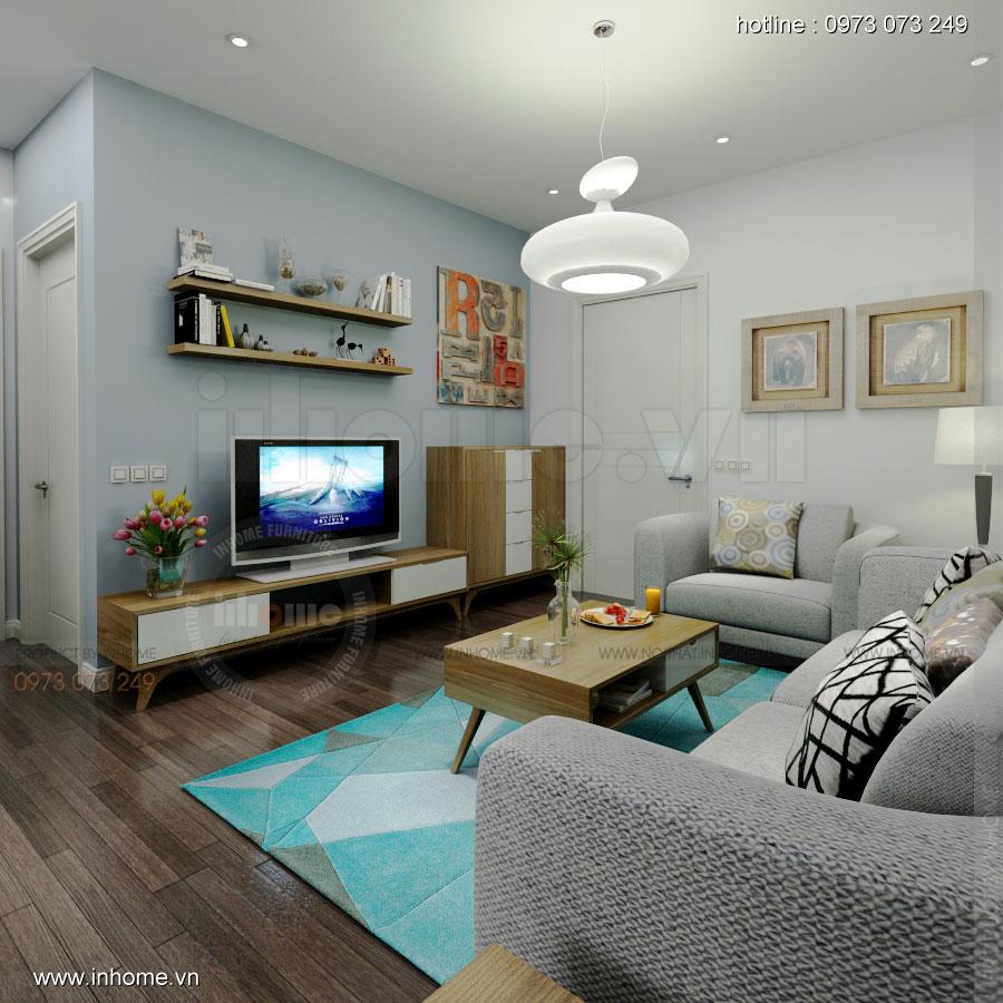 Thiết kế nội thất chung cư 64m2 cho 4 người ở 04
