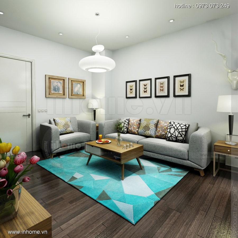 Thiết kế nội thất chung cư 64m2 cho 4 người ở 07