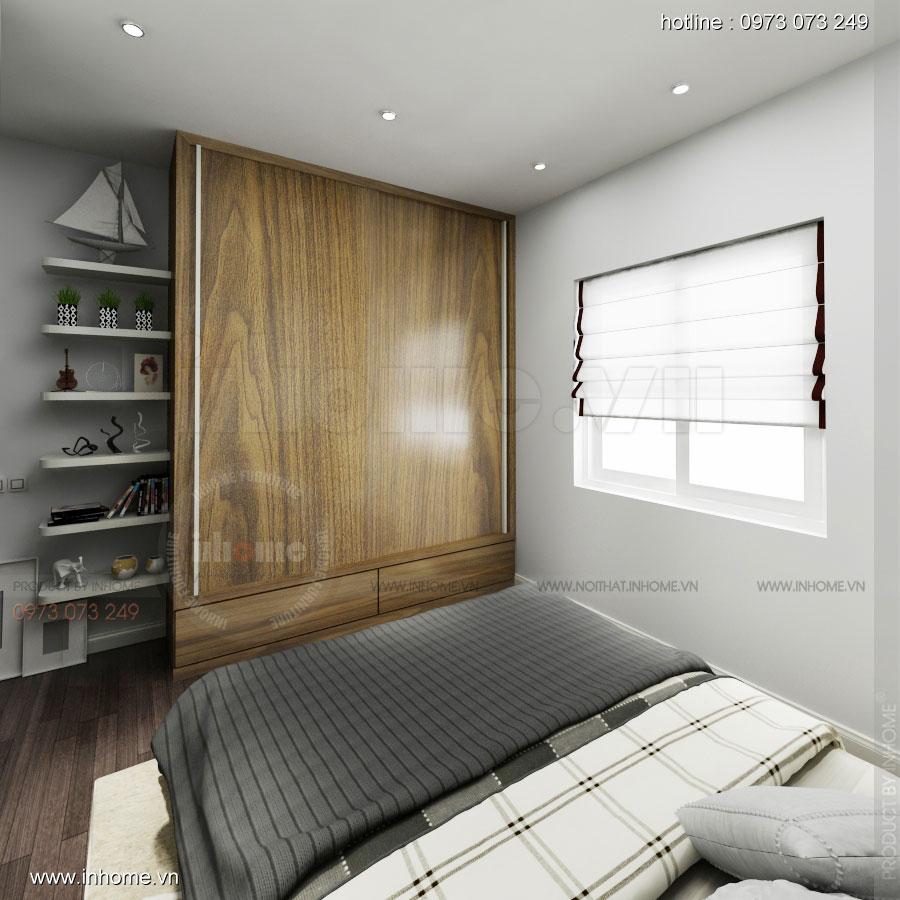 Thiết kế nội thất chung cư 64m2 cho 4 người ở 09