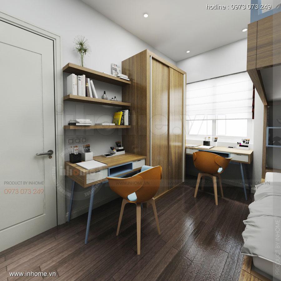 Thiết kế nội thất chung cư 64m2 cho 4 người ở 11