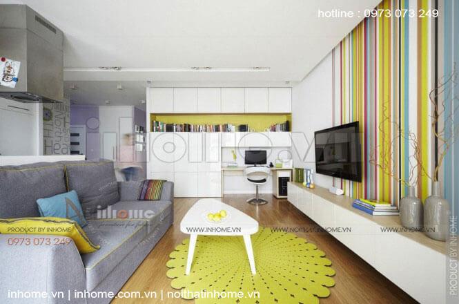 Thiết kế nội thất chung cư 90m2 3 phòng ngủ đẹp