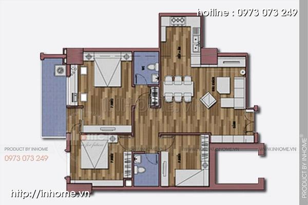 Thiết kế nội thất chung cư tòa nhà nhà A3 01