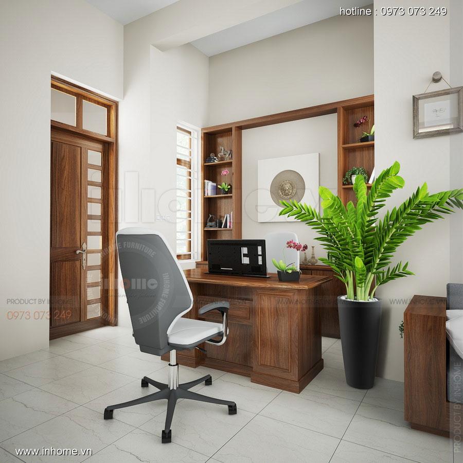 Thiết kế nội thất phòng làm việc: sang trọng