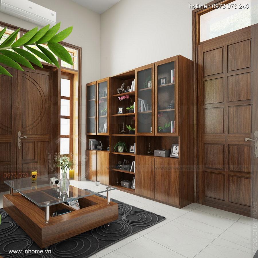 Thiết kế nội thất phòng làm việc: Ngăn lắp