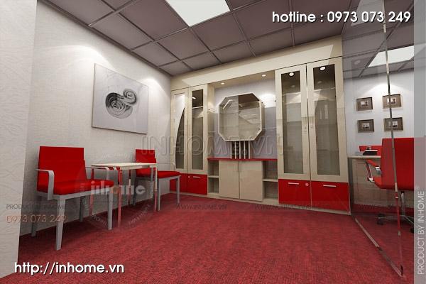 Thiết kế nội thất văn phòng Điện Quang 01