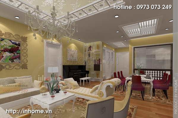 Thiết kế nội thất chung cư Láng Hạ 08